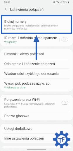 Ustawienia połączeń w telefonie