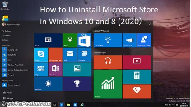 How to Uninstall Microsoft Store in Windows 10 and 8 (2020)