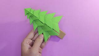 origami christmas tree easy gấp cây thông noel dễ bằng giấy