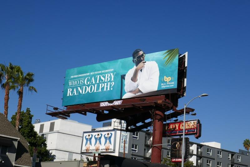 Who is Gatsby Randolph FYC billboard