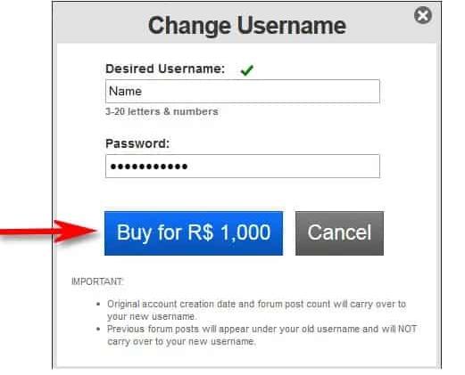كيفية تغيير اسم مستخدم  الخاص بك في roblox