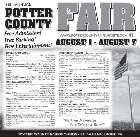 8-1 Thru the 7th Potter County Fair