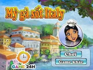 Chơi game mỳ gà sốt Italia ngon nhất