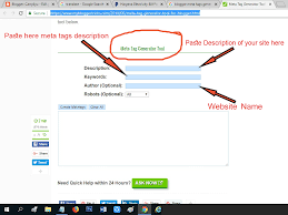 Generate Meta Tags and Submit Website In Search Engine