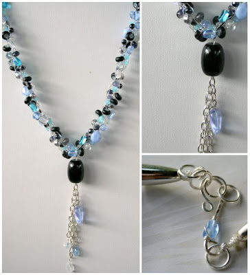 Summer Color Surprise Blog Hop: Blue Necklace (wire crochet) :: All Pretty Things