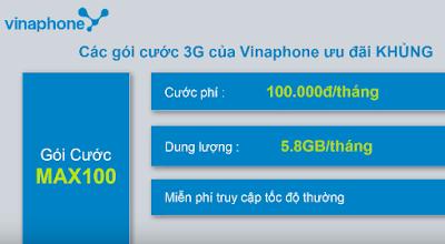 gói MAX100 Vinaphone