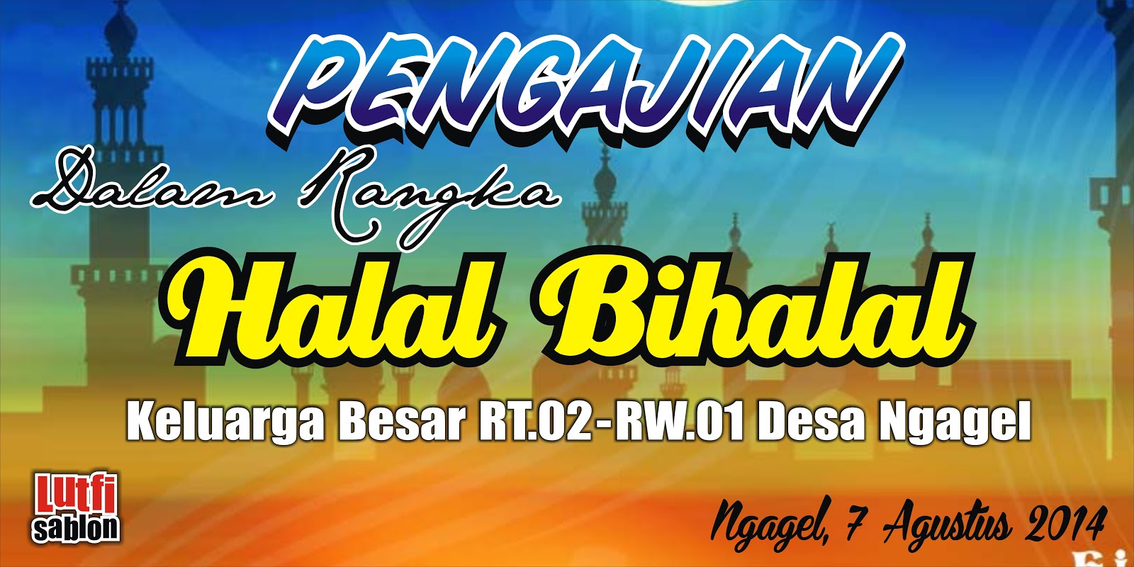 Contoh Banner Halal Bihalal Design Banner Pamflete