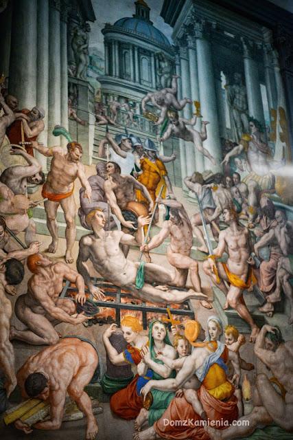 Fresk San Lorenzo - męczeństwo