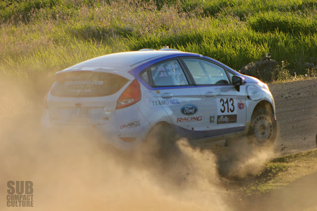 Ford Fiesta rally car at 2013 Oregon Trail Rally