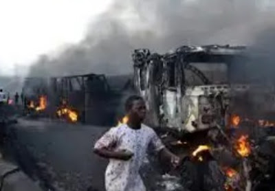 Lady Crushed In An Oil Tanker Accident In Lagos