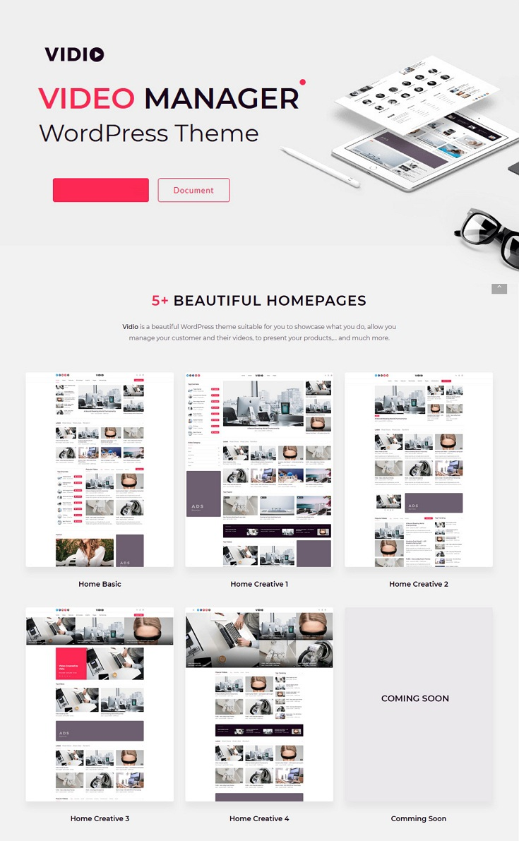 Video Manager WordPress theme