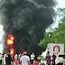 VÍDEO: Carreta pega fogo na BR 101 em Fundão; após trabalho dos bombeiros pista foi liberada