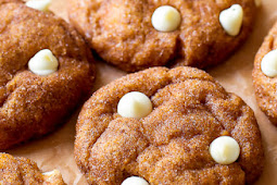 White Chocolate Pumpkin Snickerdoodles - Easy & Simple Recipe