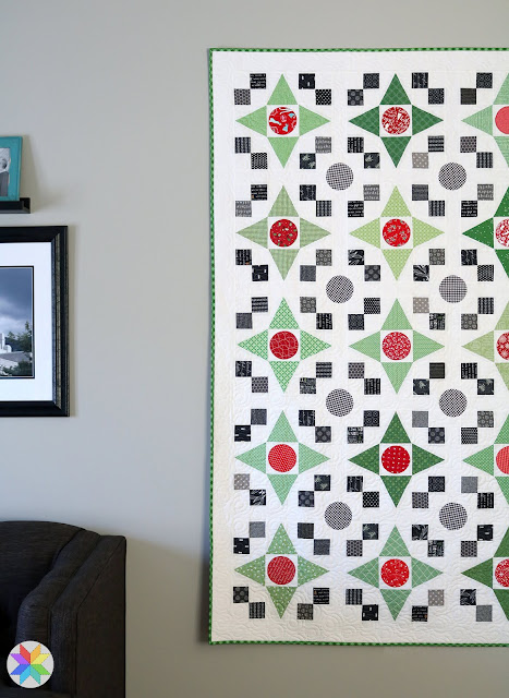 Game Night quilt - a fat quarter Christmas quilt by Andy of A Bright Corner from the Fresh Fat Quarter Quilts book
