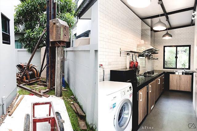 แบบห้องครัวนอกบ้านราคาประหยัด