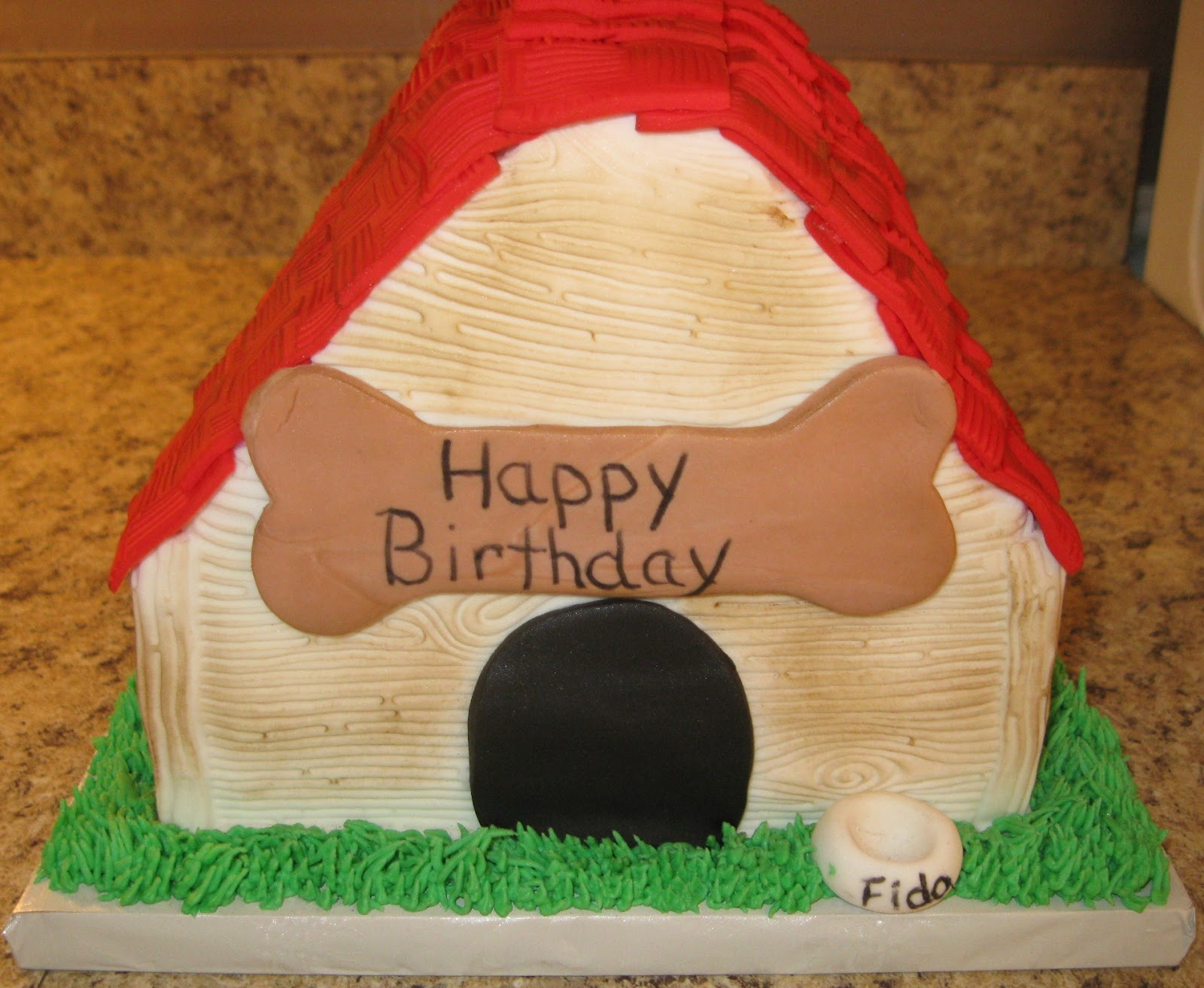 Dog Theme Birthday Cake