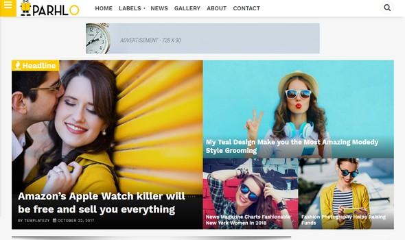 Parhlo adalah Template Blogger Majalah Premium yang terinspirasi dari Wordpress Theme