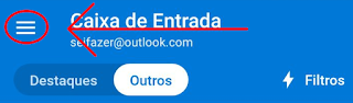 App da Microsofot Outlook no iPhone