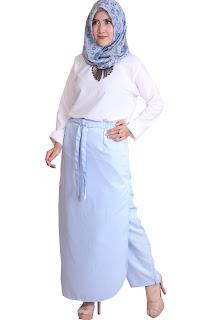 rok celana hijab rocella bellina baby blue
