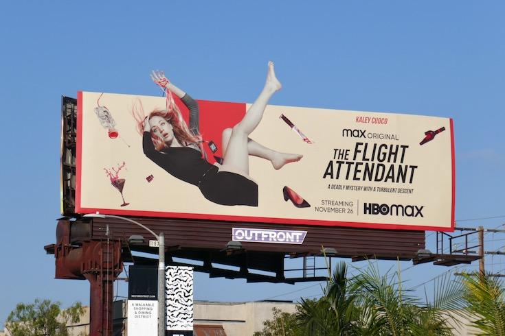 Kaley Cuoco Flight Attendant billboard
