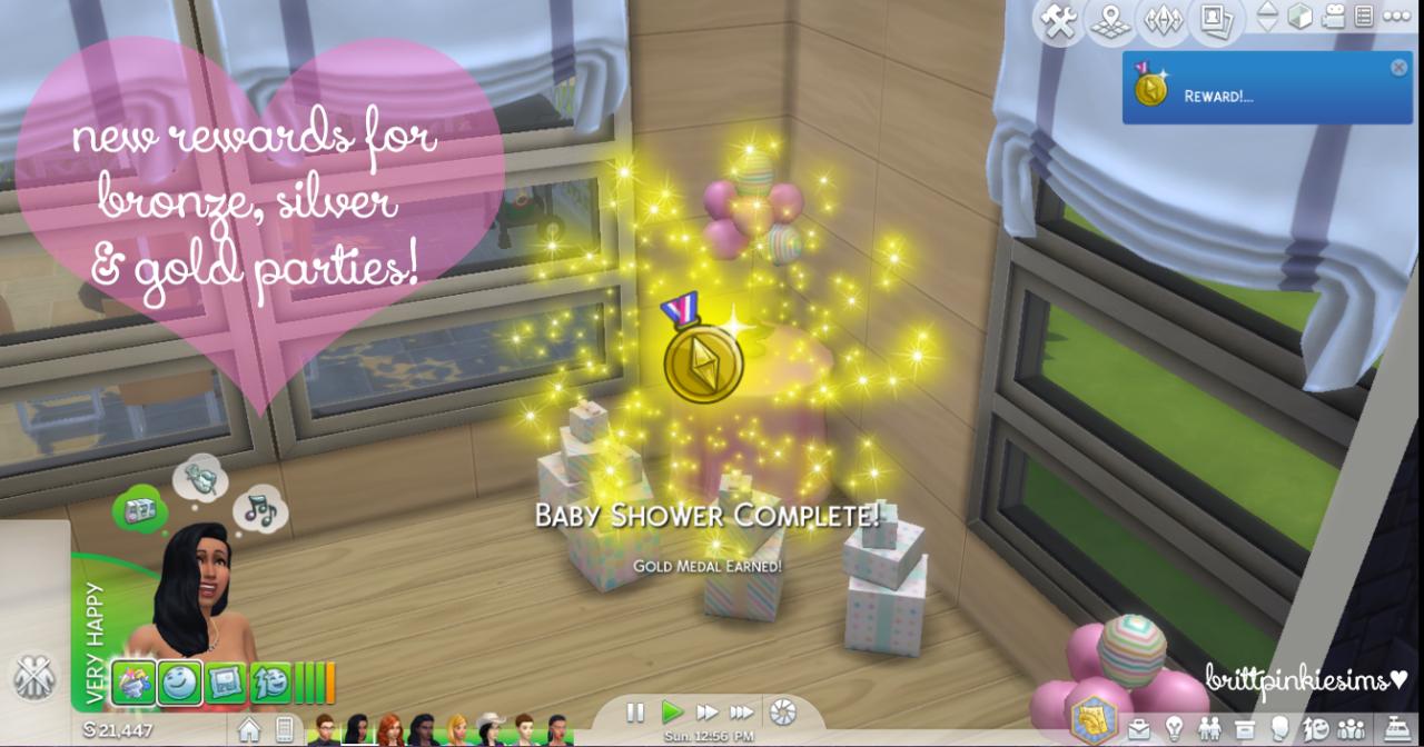Baby Shower Sims 4 ~ My sims updated the baby shower custom