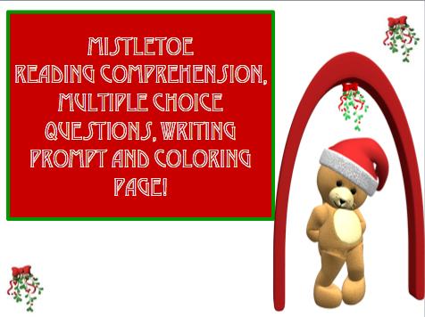 christmas holiday reading comprehension worksheet classroom freebies. Black Bedroom Furniture Sets. Home Design Ideas