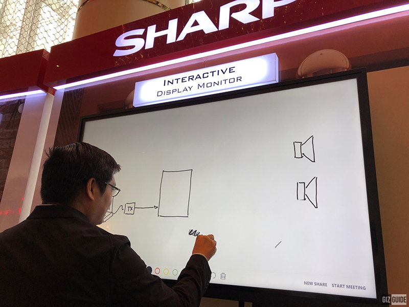 Sharp Interactive Display