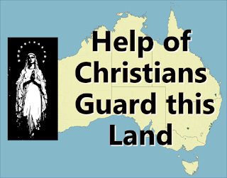 Help of Christians, guard this land.  From assault or inward stain; Let it be what Christ has planned, His new Eden where you reign. 2  Teach us that in Christ your Son Lies the wisdom to be free;  For the Cross, which we would shun, Is man's Tree of Liberty. 3  Should the powers of hell arise, And our peace be trampled down, In that night of blood and lies Show us still your twelve-starred crown. 4  Take from us the coward heart, Fleeting will, divided mind, Give us sight to play our part, Though the world around is blind. 5  Image, of the risen life Shining in eternity Glimmer through our earthly strife, Draw us to your victory.