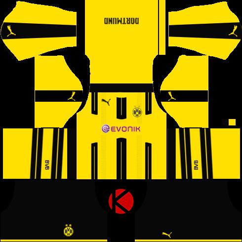Borussia Dortmund 2016/17 - Dream League Soccer Kits 2017 and FTS15