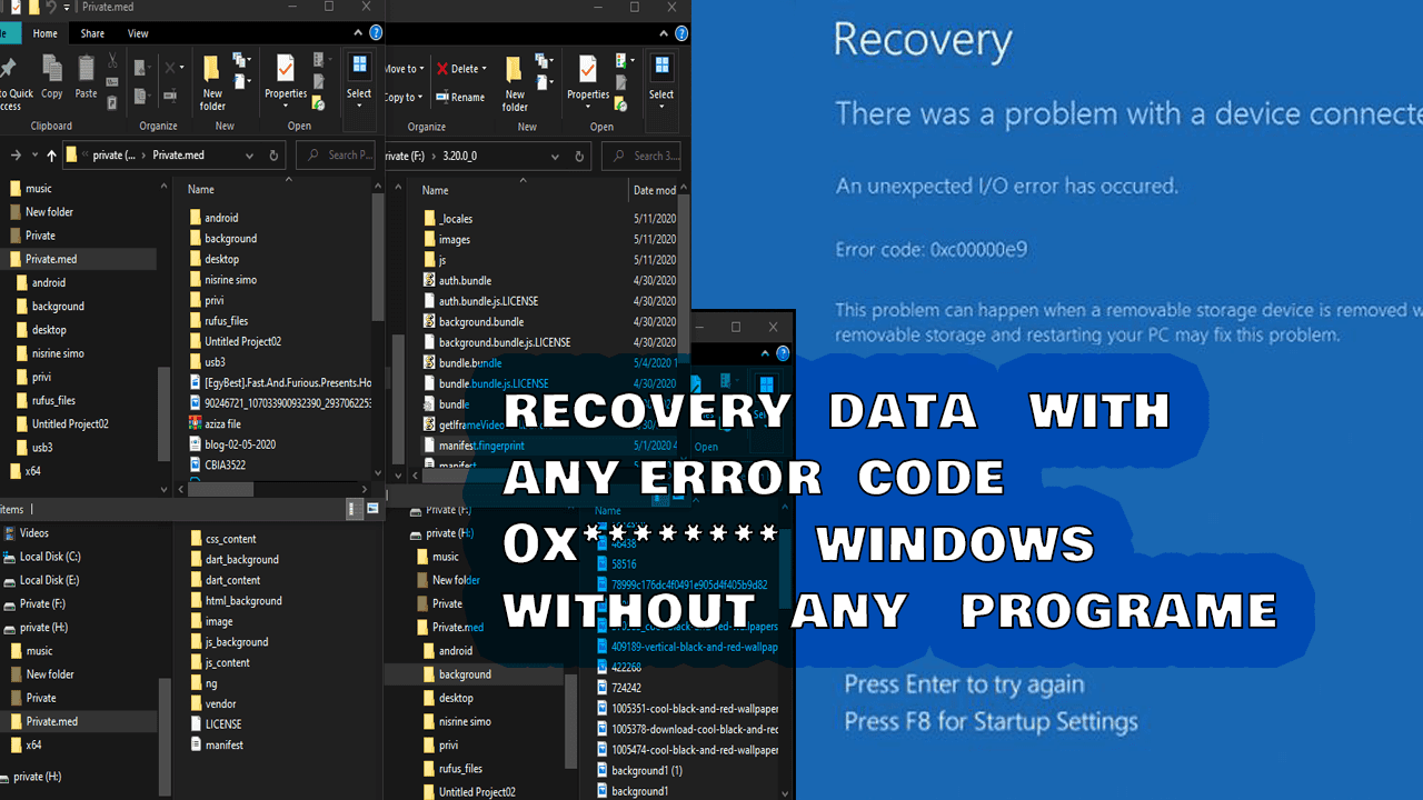 how to recover your data when your windows error ( code 0X**  )Without Booting Into Windows easy way