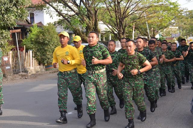 Prajurit Makorem 141/Tp Laksanakan Minggu Militer Dengan Cara Lari Jalan
