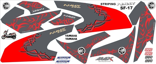 sticker Striping old Nmax floral