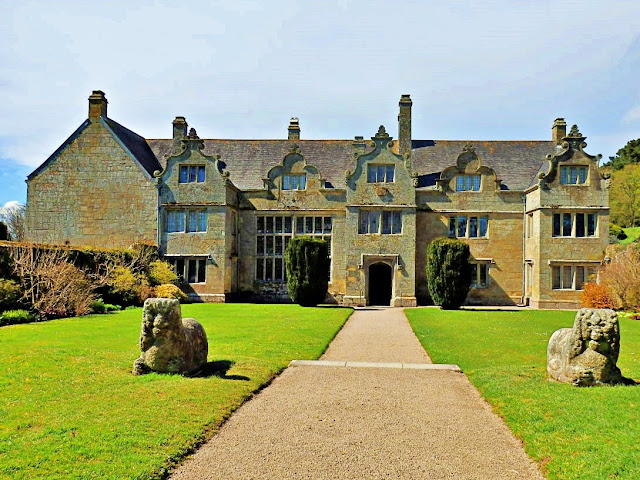 Formal photo of Trerice House, Cornwall
