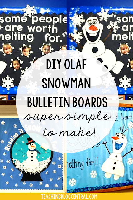 Olaf is a much loved character from Frozen! There DIY Olaf SNowman Bulletin Boards are super simple to make!