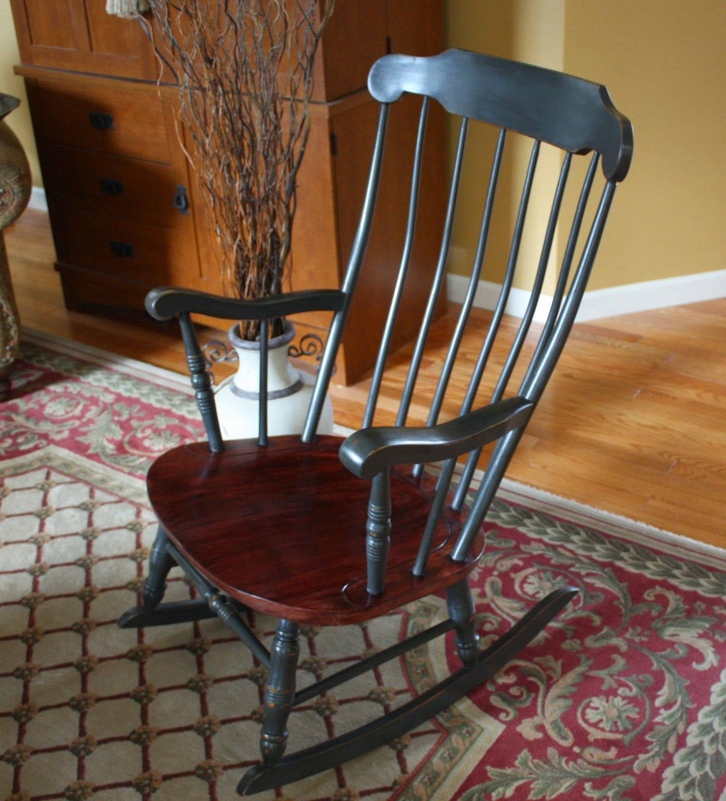 Rocking Chair Soldes Antique Colonial Rocking Chair Sold