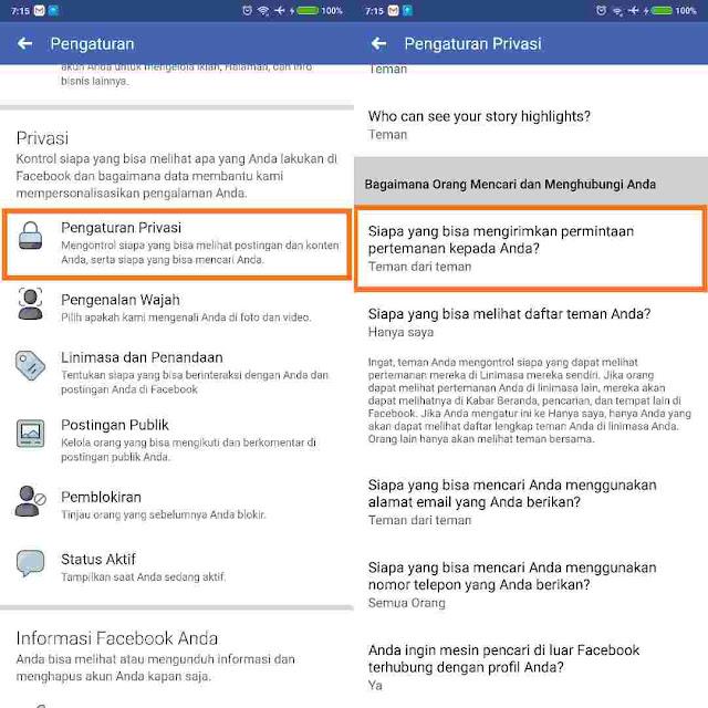 Cara Agar Akun Facebook Tidak Bisa Di Add Friend Oleh Orang Lain