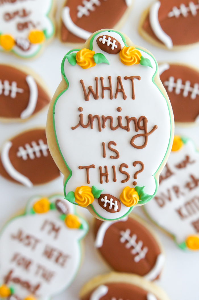 Super Bowl Thoughts...in Cookie Form: super bowl, football decorated cookies