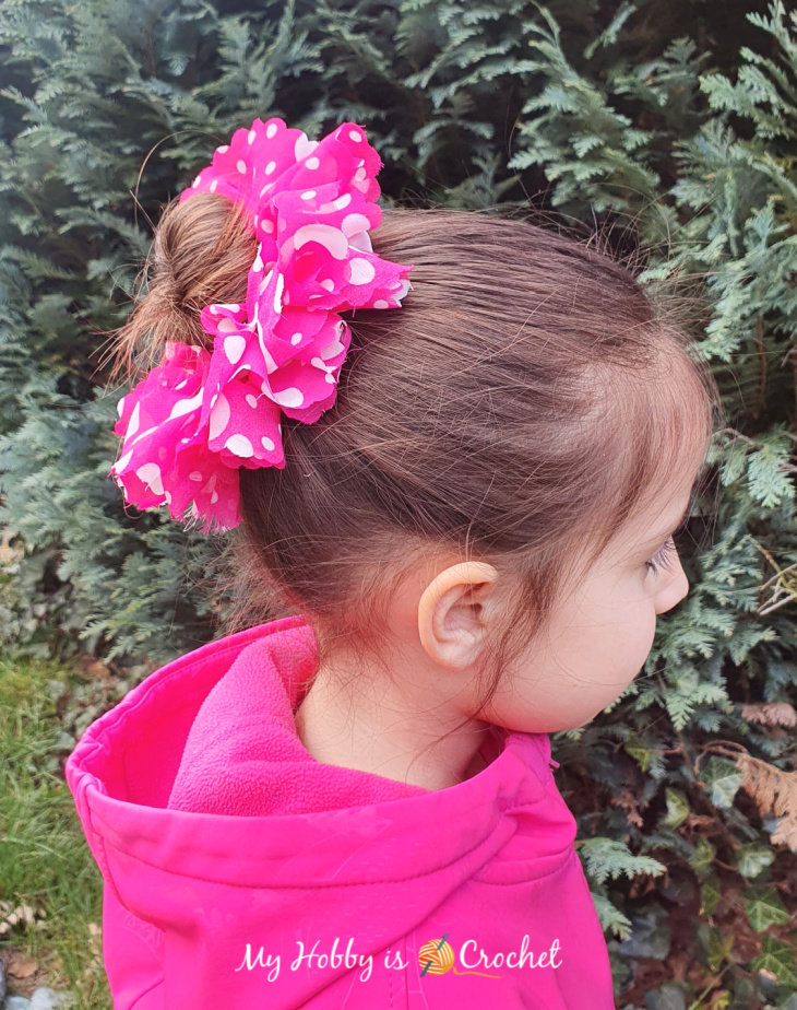 Sassy Fabric Hair Scrunchie crocheted