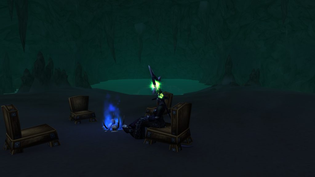 This cave teleports you straight to Draenor.
