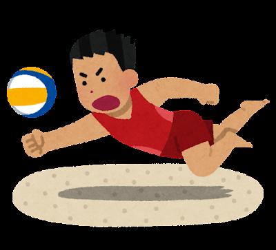 ビーチバレーのイラスト(男性)