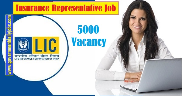 Lic Insurance Representative Job Notification 2020 5000 Lic Vacancy