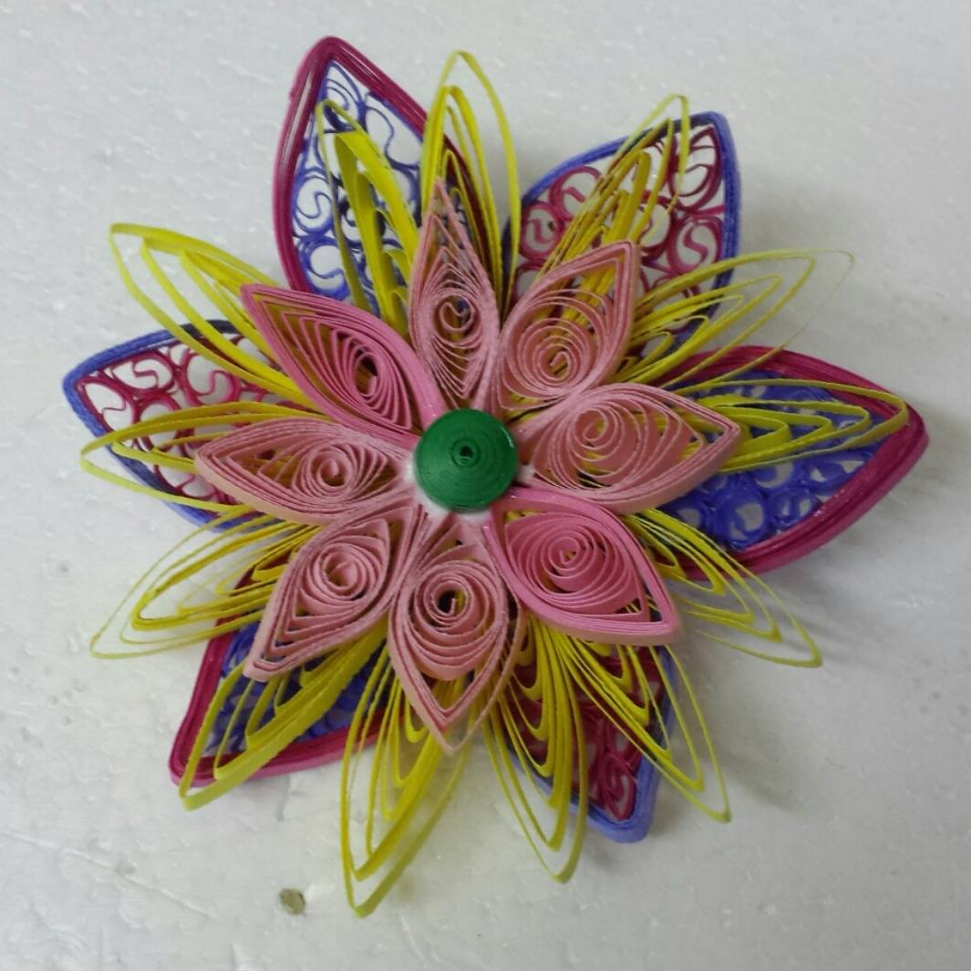 Trupti 39 s craft paper quilling work by my students for Paper quilling work