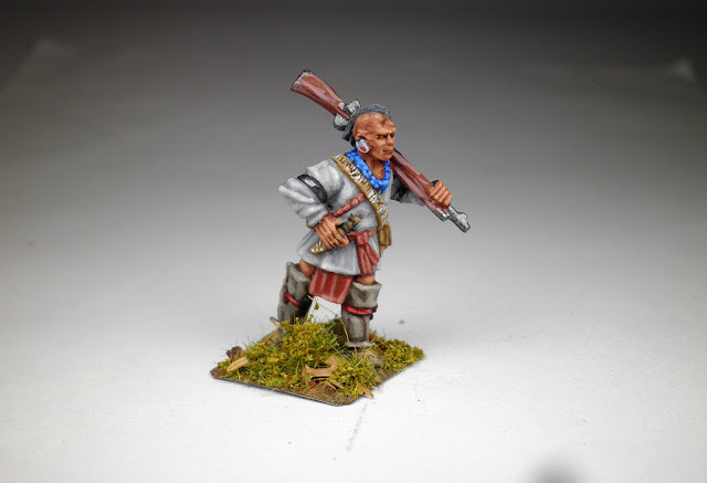 First time, painting up a Native American Indian.