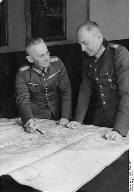 Franz Halder with Walther von Brauchitsch worldwartwo.filminspector.com