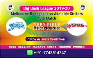 Who will win Today BBL T20, 15th Match Adelaide vs Renegades - Cricfrog