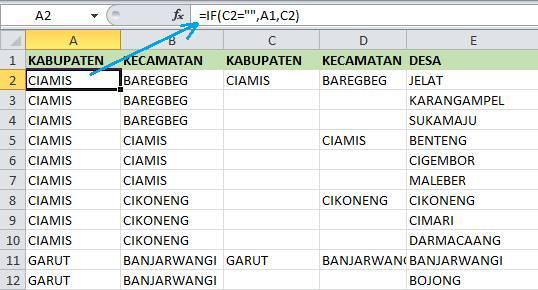 Rumus IF Untuk Mengisi Sel Kosong Excel