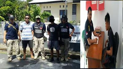 Tersangka Teror Bom KM Majestic diamankan Aparat Kepolisian
