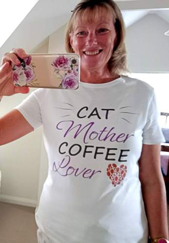 cat mother, coffee lover tee shirt