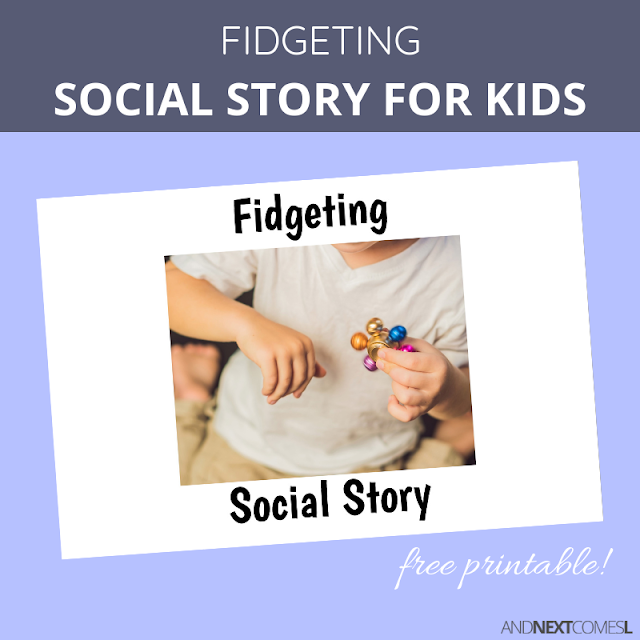 Free printable fidget social story for kids with autism and ADHD