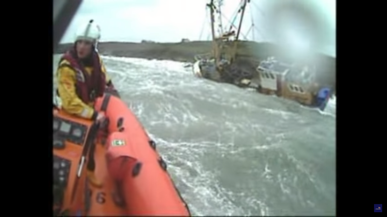 VIDEO: Kinsale RNLI rescue three fishermen from sinking trawler in storm conditions